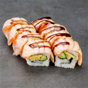 Foto Flamed Sake Roll